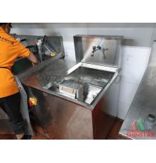 Máy đánh vỉ nướng bbq máy chà vỉ