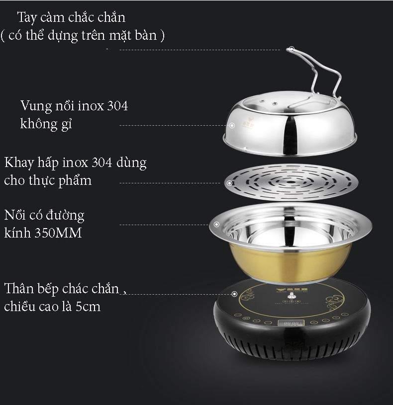 thiết bị bếp lẩu hơi công nghệ mới